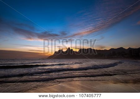 Sunset in Ipanema Beach