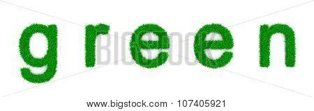 Grass Green Text Sign Shape