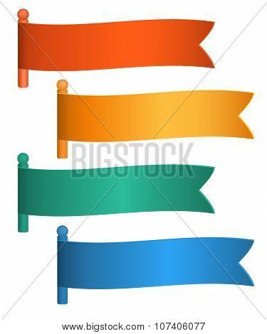 Flag-set-horizontal-banner-isolated-white-background