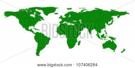 Grass World Map Shape