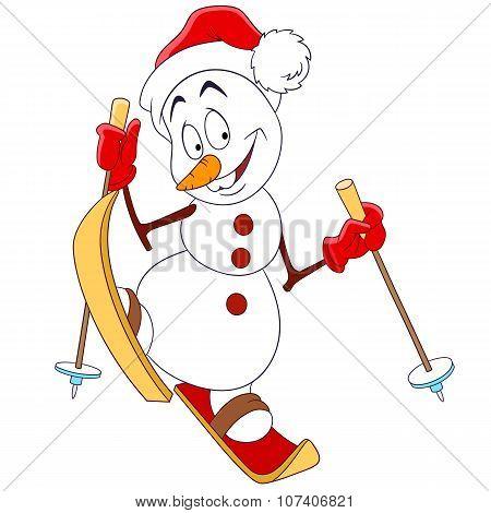 Cute Happy Snowman