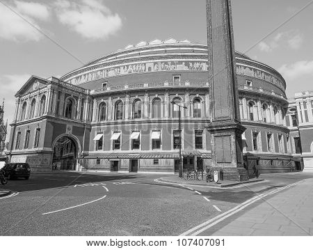 Black And White Royal Albert Hall In London