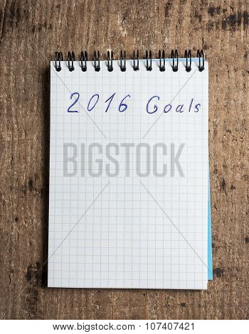 Notebook and goals of year 2016
