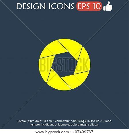 Aperture Icon. Flat Design Style