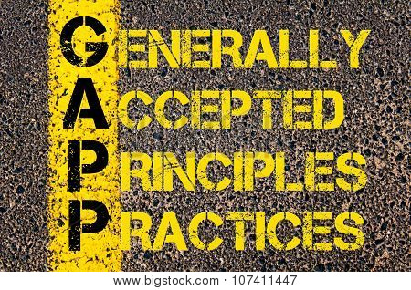Business Acronym Gapp As Generally Accepted Principles And Practices