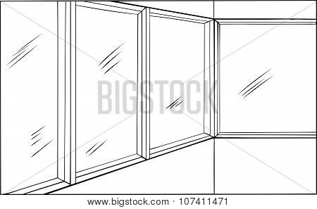 Room With Windows Outline
