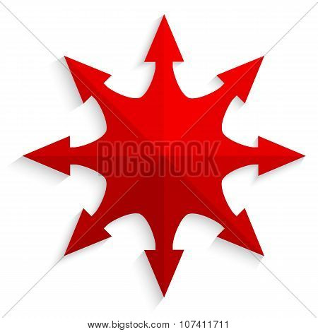 Red-arrow-compass-design-element-effect-paper