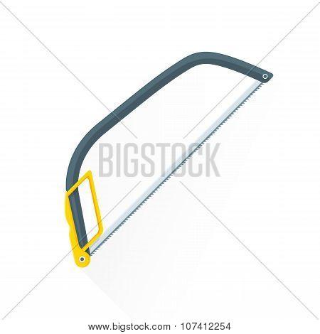 Vector Flat Construction Hacksaw Illustration Icon.