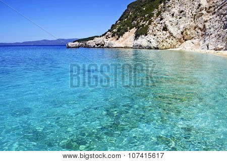 turquoise sea of the Ionian islands Greece