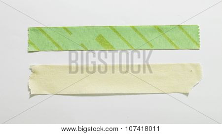 scotch tape slices isolated on white background