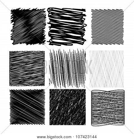 Set of Diagonal Strokes Patterns