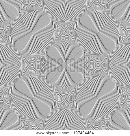 Abstract decorative pattern with raised impression effect. Illustration.