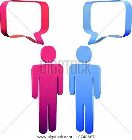 People Talk In 3D Social Media Speech Bubbles