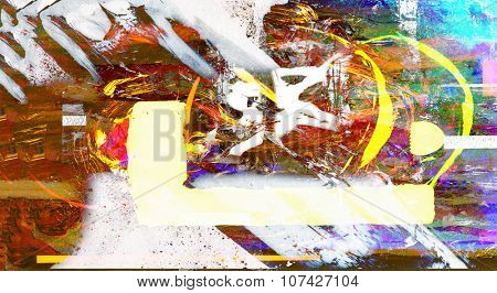 Nice Image of an original Abstract on Glass