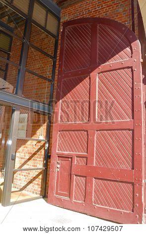Oversized Red Door