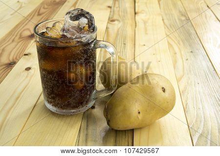 Drink Potato Cola Cup Glass Caffeine Liquid Concept