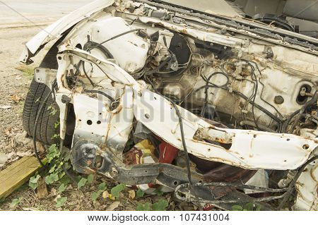 Car Wreck Crash Crush Die Damage