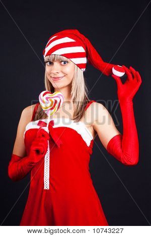 Santa Girl Is Candy,  Icicle. Holidays New Years And Christmas