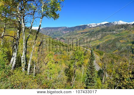 Mt Sopris During Foliage Season In Colorado