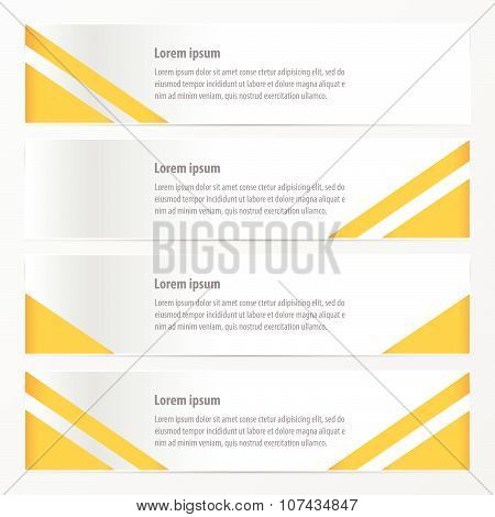 Modern Banner  Yellow Color