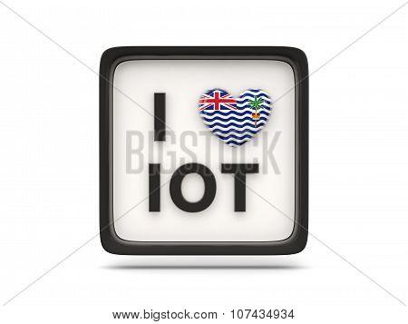 I Love British Indian Ocean Territory Sign