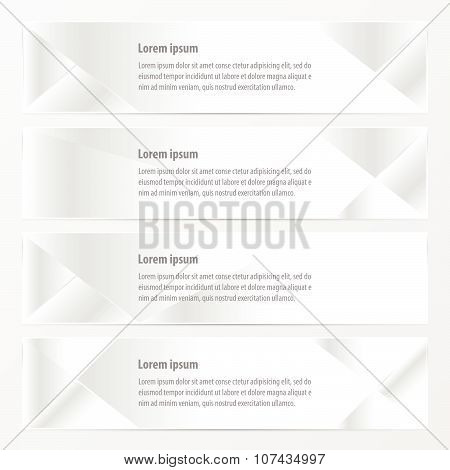 Banner Polygons Design   White Color