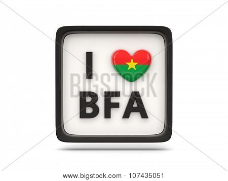 I Love Burkina Faso Sign