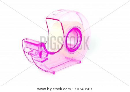 Clear Sticky Tape Container Isolated