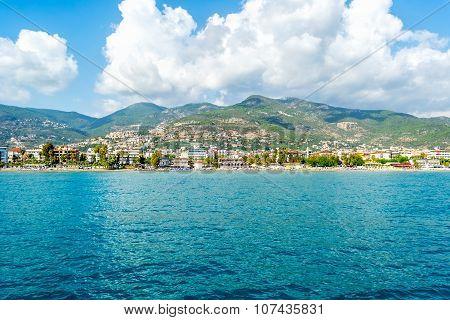 Sea And Beautiful Cityscape In Alanya, Turkey.