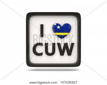 I Love Curacao Sign