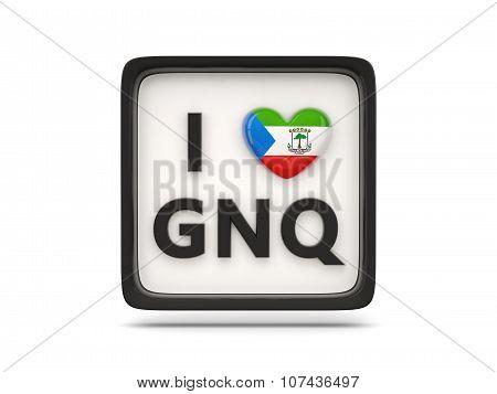 I Love Equatorial Guinea Sign