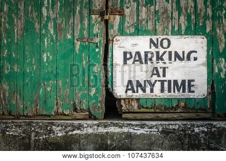 No parking at anytime