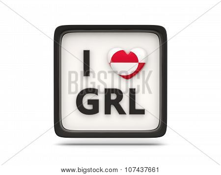 I Love Greenland Sign