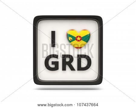I Love Grenada Sign