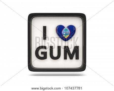 I Love Guam Sign