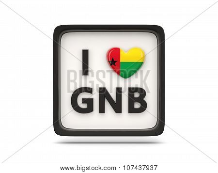 I Love Guinea Bissau Sign