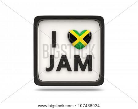 I Love Jamaica Sign