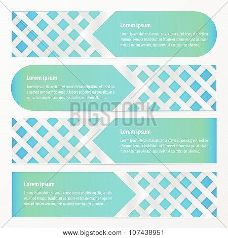 Banner Weave Design  Neon Blue