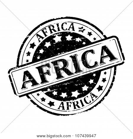 Damage To Black Stamp With The Words - Africa - Illustration