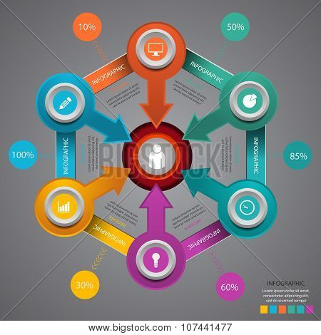 Business Marketing Infographic Template Vector Illustration Eps 10