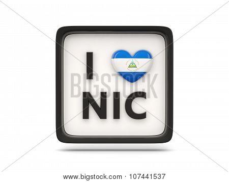 I Love Nicaragua Sign
