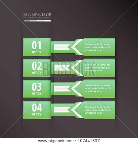 Banner Design Arrow Style  Neon Green