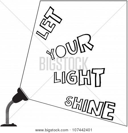 Let Your Light Shine Lamp
