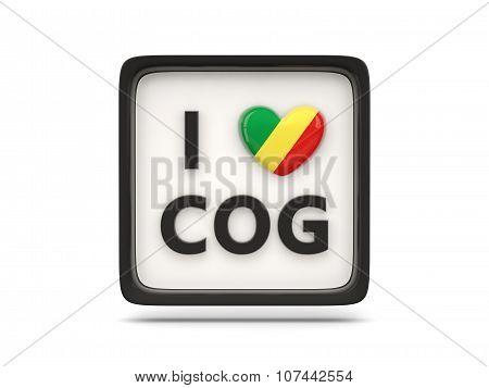 I Love Republic Of The Congo Sign