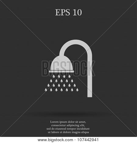 Shower Icon. Flat Design Style