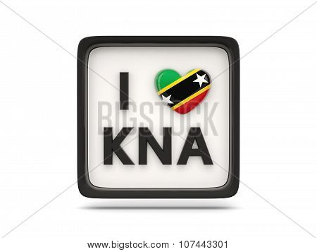I Love Saint Kitts And Nevis Sign