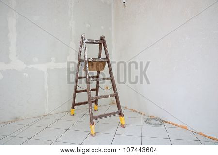 Stepladder standing in the room