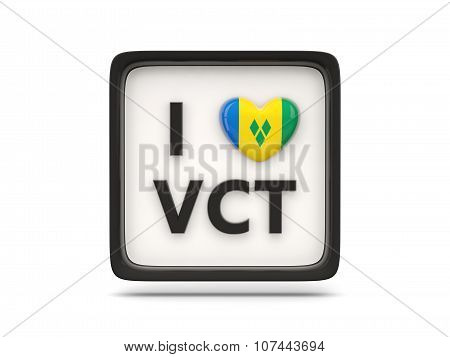 I Love Saint Vincent And The Grenadines Sign