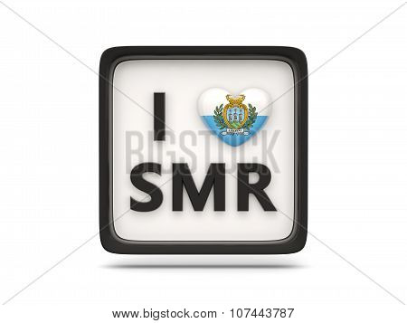 I Love San Marino Sign