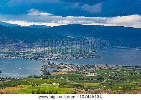 Osoyoos British Culumbia Canada And Osoyoos Lake